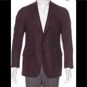 Isaia Base Dustin Wool Cashmere Blazer Size 52R
